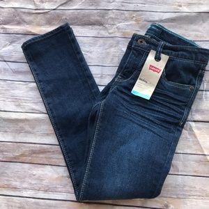 Levi's Skinny Jeans Girls Blue 10 Reg NEW NWT
